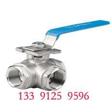NPT Three way ball valve - T type, L type