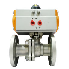 Pneumatic Flanged Ball Valve