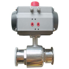Tri-clamp Pneumatic Ball Valve two way type