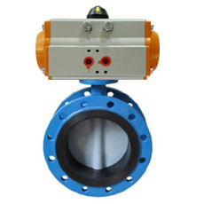 Pneumatic Double Flanged Butterfly Valve