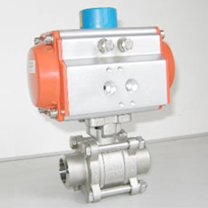 Pneumatic Ball Valve -  SW End 3pcs