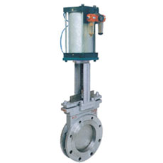 Pneumatic Flanged Knife Gate Valve