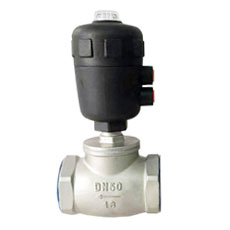 Pneumatic T-type Angle Seat Valve Plastic Head