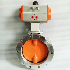 Electric powder butterfly valve